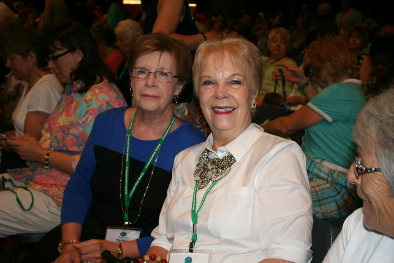 Ninth Triennial Gathering | Sisters Anna Jetson, Spring Grove, MN, Highland Lutheran, and Marcia Engebretson, Decorah, IA attend the closing worship