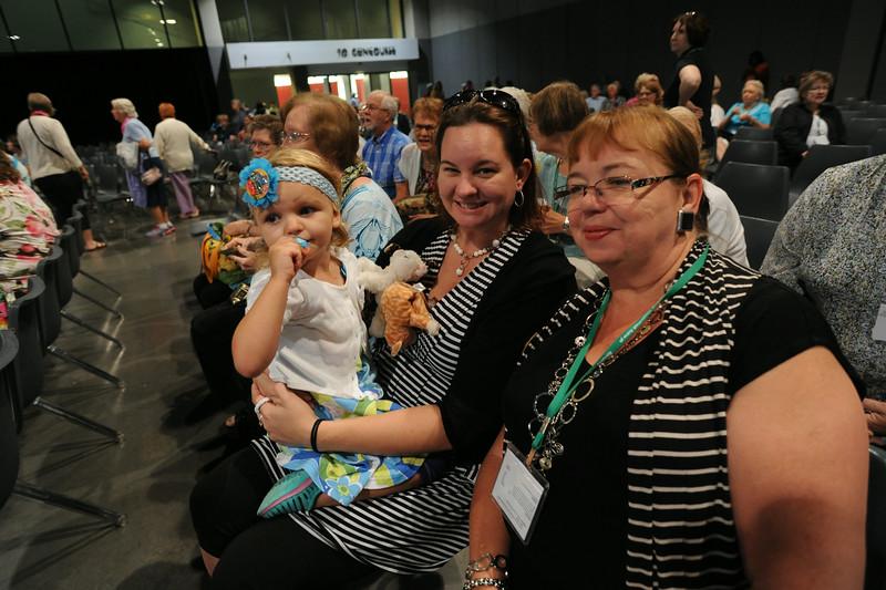 Ninth Triennial Gathering | Anna Humphrey (left) attends her second triennial gathering with mom, Sara Humphrey and grandma, Susan Humphrey