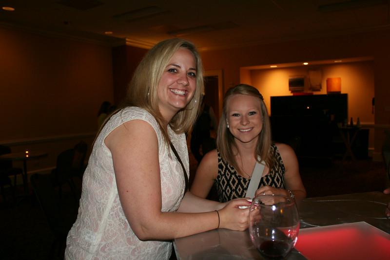Ninth Triennial Gathering | Andrea Hanson (left), Edina, MN; Jen Quanrud, Preston, MN at the Chocolate Lounge