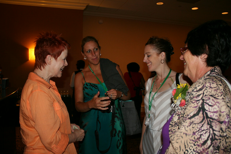 Ninth Triennial Gathering | Churchwide executive board president, Patti Austin, greets Chocolate Loungers