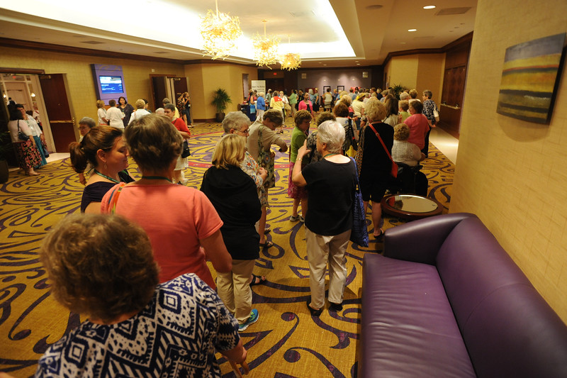 Ninth Triennial Gathering | Women in line to meet Bishop Eaton