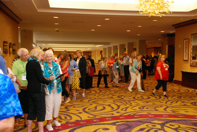 "The line to ""Meet the Bishop"" stretched all the way down a long hallway Thursday night at the 2014 Women of the ELCA Triennial Gathering. EH."