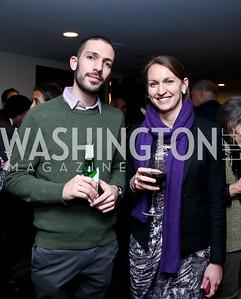 Juan Misle, Emma Buckhout. Photo by Tony Powell. A Celebration of the US-Cuba Policy Changes. NPC. February 24, 2015