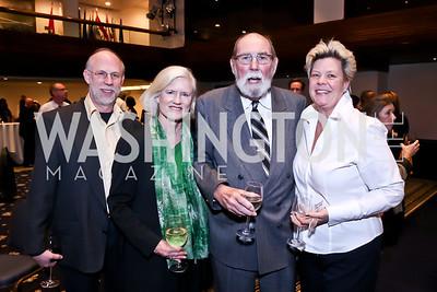 Glenn Baker, Caroline Croft, Wayne Smith, Melinda Ulloa. Photo by Tony Powell. A Celebration of the US-Cuba Policy Changes. NPC. February 24, 2015