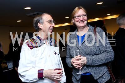 Steve Cobble, Kimberly Stanton. Photo by Tony Powell. A Celebration of the US-Cuba Policy Changes. NPC. February 24, 2015