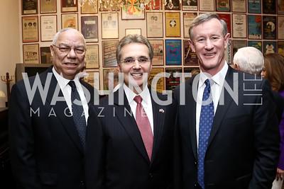 Gen. Colin Powell, Ron DePinho, Bill McRaven. Photo by Tony Powell. A Conversation with A Living Legend. April 21, 2015