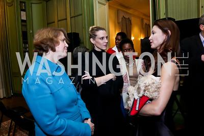 "Jennifer Winsor, Kelly Thalman, Ashley Judd. Photo by Tony Powell. An evening in celebration of, ""a path appears."" Meridian House. January 13, 2015"