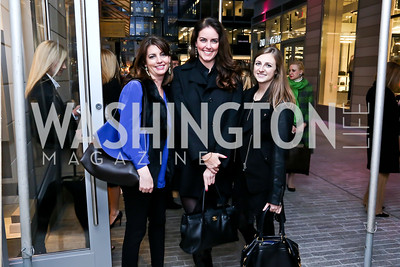 Kerri Larkin, Amanda Whiting, Shelby Benkert. Photo by Tony Powell. Alexis Bittar Grand Opening. City Center. April 9, 2015