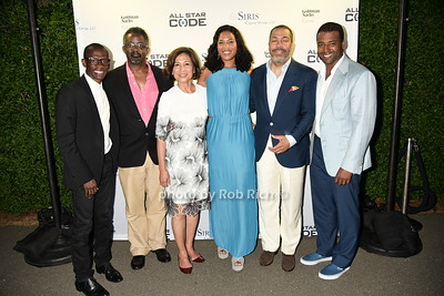 Troy Carter, Marcus Mitchell, Loida Nicolas Lewis, Christina Lewis Halpern, Valentino D. Carlotti, and Frank A.Baker attend  the All Star Code's Second Annual Summer Benefit on July 25, 2015 at the private residence of Loida Nicolas Lewis in East Hampton. photo by Rob Rich/SocietyAllure.com