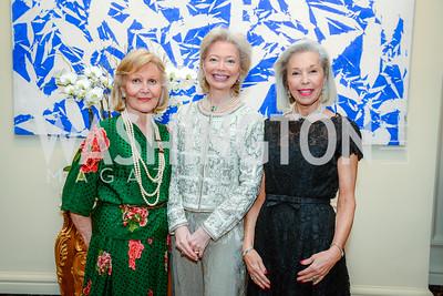Evelyn Di Bona, Joan Carl, Nina Pillsbury, Alliance Francaise, Benefit Evening, April 9, 2015, photo by Ben Droz