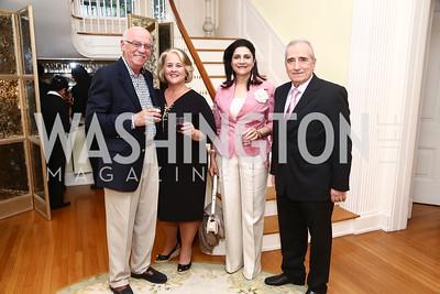 Andreas and Koula Savvakis, Rodi and Apostolos Kratsas. Photo by Tony Powell. American Barbecue. Coopersmith Residence. June 4, 2015