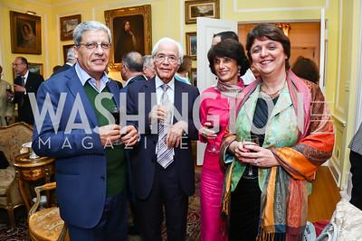 Naji Karam, M'Hamed Fantar, Elisabeth Fontan, Francoise Briquel Chatonnet. Photo by Tony Powell. American Barbecue. Coopersmith Residence. June 4, 2015