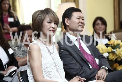 Galiya Umarova and Kazakhstan Amb. Kairat Umarov. Photo by Tony Powell. An Afternoon Tea. Coopersmith Residence. June 25, 2015