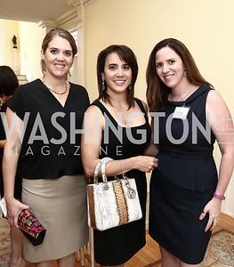 Maritza Kelley, Cristina Antelo, Sarah Flack. Photo by Tony Powell. An Afternoon Tea. Coopersmith Residence. June 25, 2015