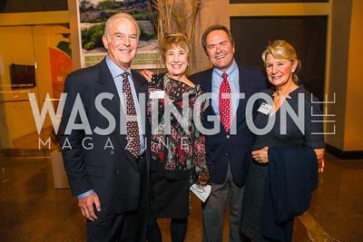 Richard Hertzberg, Carole Clark, John Wayne Clark, Carol Dean Hertzberg. Photo by Alfredo Flores. An Evening with Kareem Abdul-Jabbar. The National Building Museum. October 30, 2015.