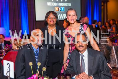 Kareem Abdul-Jabbar, Regina Benjamin, Sharon Malone, Eric Holder. Photo by Alfredo Flores. An Evening with Kareem Abdul-Jabbar. The National Building Museum. October 30, 2015.