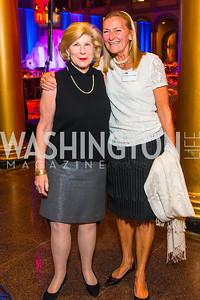 Nina Totenberg, Heather Sturt Haaga,. Photo by Alfredo Flores. An Evening with Kareem Abdul-Jabbar. The National Building Museum. October 30, 2015.
