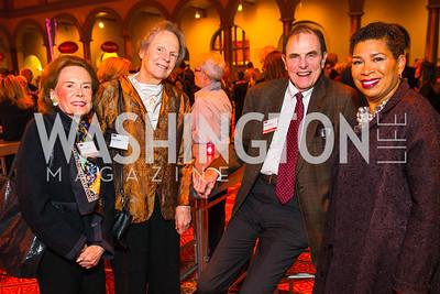 Barbara Linhart, Judy Hopkins, Steve Hopkins, Michel Martin. Photo by Alfredo Flores. An Evening with Kareem Abdul-Jabbar. The National Building Museum. October 30, 2015.