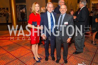 Karen Grasseschi, Tony Crabb, Howard Wollner. Photo by Alfredo Flores. An Evening with Kareem Abdul-Jabbar. The National Building Museum. October 30, 2015.