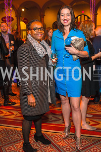 Carline Watson, Abby O'Neill. Photo by Alfredo Flores. An Evening with Kareem Abdul-Jabbar. The National Building Museum. October 30, 2015.