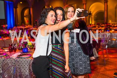 Anneke Jong, Audrey Buchanan, Danielle Deabler. Photo by Alfredo Flores. An Evening with Kareem Abdul-Jabbar. The National Building Museum. October 30, 2015.
