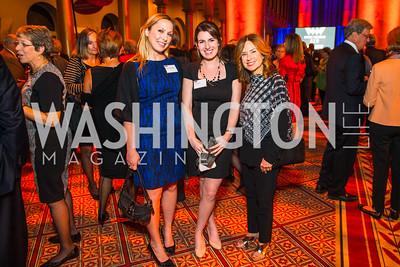 Christina Donatelli, Alex Glazer, Miriam Muscarolas. Photo by Alfredo Flores. An Evening with Kareem Abdul-Jabbar. The National Building Museum. October 30, 2015.