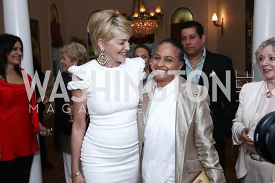 Sharon Stone, Sister Jenna. Photo by Tony Powell. An Evening with Sharon Stone. Mafi Residence. July 25, 2015