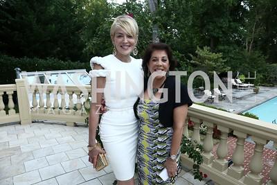 Sharon Stone, Shahin Mafi. Photo by Tony Powell. An Evening with Sharon Stone. Mafi Residence. July 25, 2015