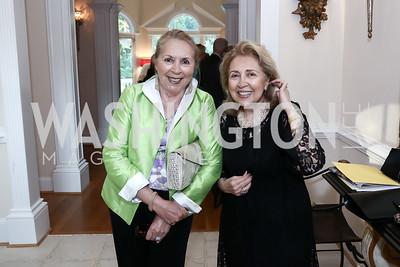 Gilan Corn, Goli Kashani. Photo by Tony Powell. An Evening with Sharon Stone. Mafi Residence. July 25, 2015