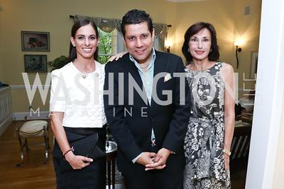 Tara Compton, Trinidad and Tobago Amb. Neil Parsen, Monaco Amb. Maguy Maccario Doyle. Photo by Tony Powell. An Evening with Sharon Stone. Mafi Residence. July 25, 2015