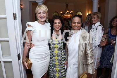 Sharon Stone, Shahin Mafi, Sister Jenna. Photo by Tony Powell. An Evening with Sharon Stone. Mafi Residence. July 25, 2015