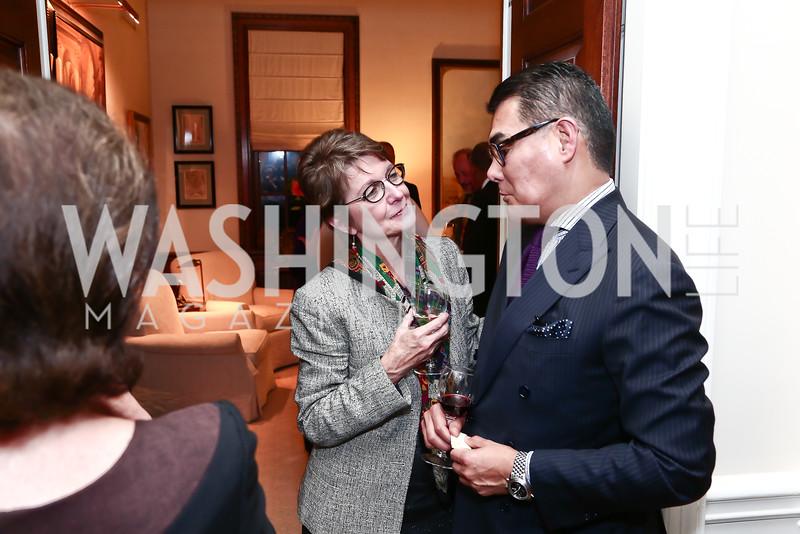 Dorothy Kosinski, Javier Equihua. Photo by Tony Powell. Reception for Jane Chu. November 19, 2015