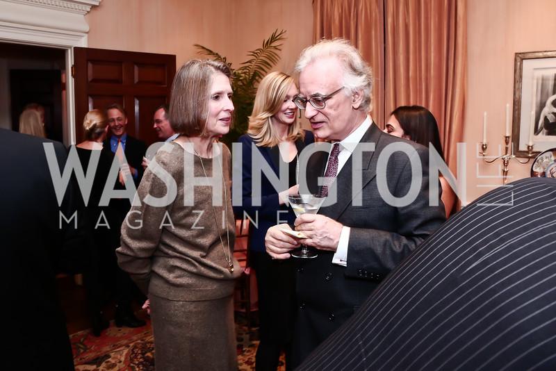 Shelley Ross-Larson, Julian Raby. Photo by Tony Powell. Reception for Jane Chu. November 19, 2015