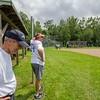 Ashburnham's Bob Fichtel (left) and Steve Cozwell watch over proceedings at the Ashburnham vs Royalston softball game at Oakmont. SENTINEL&ENTERPRISE/ Jim Marabello