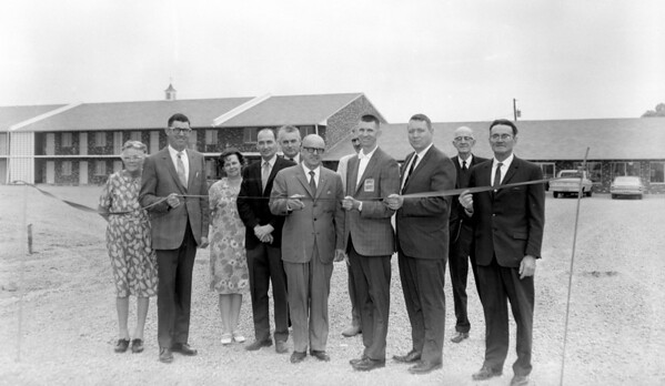 A ribbon-cutting ceremony is held at the new Best Western Motel in Effingham, but the people are not identified and the date of the event is missing. If you recognize any of the participants, or know when the motel opened in Effingham, share the information under the photo at the Effingham Daily News Facebook page.