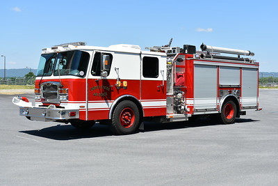 Martinsburg, West Virginia - 167th Airlift Wing - WV Air National Guard.  Rescue Engine 16 is a 2014 E-One Typhoon with a 1250/530/30/30 and serial number 138547.