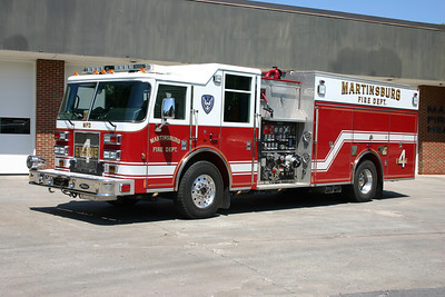 Engine 4 runs this 2005 Pierce Saber, 1500/750/30, sn- 17147.  Equipped as a rescue engine, E 4 runs from the historic Westhphal Hose Company station.