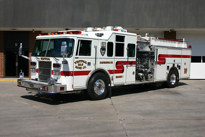Engine 1 is owned by the Westphal Hose Company (volunteer company in Martinsburg).  This 1997 Pierce Lance, 1500/750/40, sn- EB239 runs from the main station.