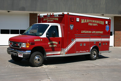 Another of the three older ambulances, Medic 2 is a 2003 Ford E-450/MedTec.