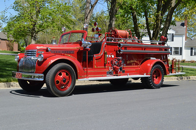 Westphal's antique 1944 Chevrolet/Oren with a 500gpm pump, sn- R.W. & E-887.  Sold to Back Creek Valley, West Virginia in 1974, then to a collector in Daytona Beach, Florida in 1986.  Back to Westphal in 1998.