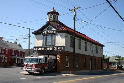 Rescue Engine 4 from Martinsburg, WV runs from the Westphal Hose Company old station that sits at a major intersection.