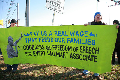 Across the nation on Black Friday there were 1500 protests at Wal-Mart Stores.