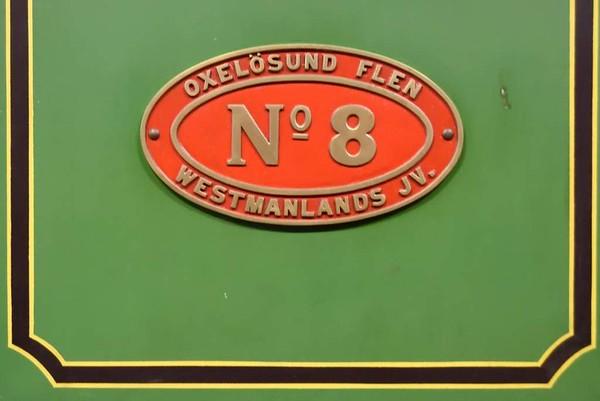 Oxelosund Flen Westmanlands Railway 0-4-2 No 8, Swedish Railway Museum, Gavle, 25 July 2015 3.