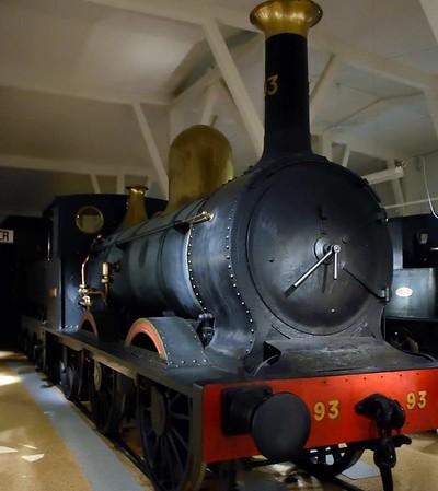 Swedish State Railways 0-6-0 No 93 Jernsida (= Ironside), Swedish Railway Museum, Gavle, 25 July 2015 1.  Built by Beyer Peacock in 1867.
