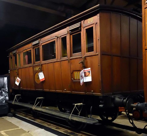 Gavle - Dala Railway coach No 20, Swedish Railway Museum, Gavle, 25 July 2015 1.  Built in Birmingham in 1868 by the Metropolitan Carriage & Wagon Co.  Composite with two end compartments each holding 10 third class passengers and a large central compartment for ten in first class.
