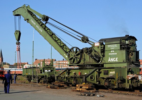 Cowans Sheldon breakdown crane, Nassjo, Sweden, Sat 6 September 2014 1.  Fifty ton crane (8934 / 1948).  Ange is where it is or was based.