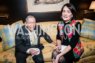 Leonard Silverstein, Susan Watters. Photo by Alfredo Flores. Buffy Cafritz Party for Deborah Rutter. Bethesda, MD. March 12, 2015.