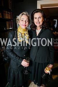 Francesca Craig, Alexandra de Borchgrave. Photo by Alfredo Flores. Buffy Cafritz Party for Deborah Rutter. Bethesda, MD. March 12, 2015.