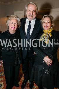 Jacqueline Mars, Philippe Auguin, Francesca Craig. Photo by Alfredo Flores. Buffy Cafritz Party for Deborah Rutter. Bethesda, MD. March 12, 2015.