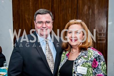 Kevin McCarthy, Debra Spurlock. Photo by Tony Powell. CUA 50th Anniversary Gala Concert. Kennedy Center. April 12, 2015